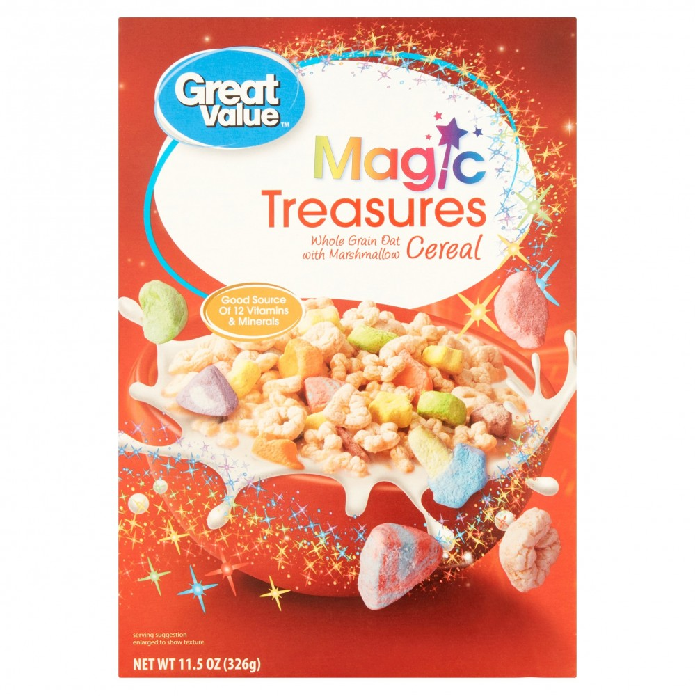Cereal (Great Value Marshmallow Breakfast Cereal, Magic